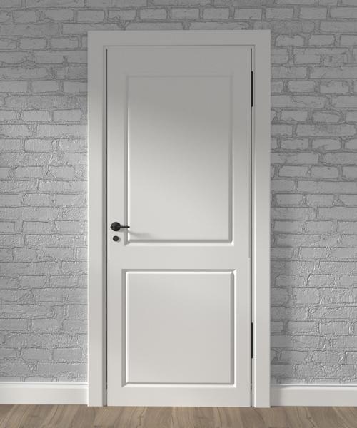 puerta madera blanca bricosta